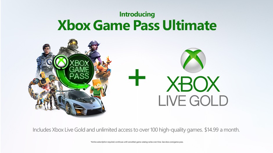Microsoft announces Xbox Game Pass Ultimate subscription
