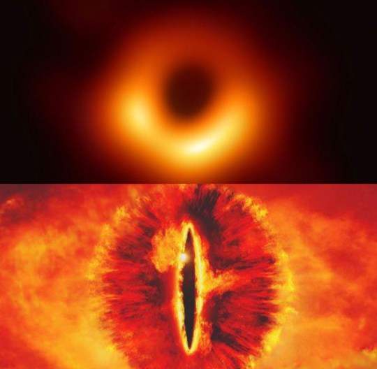 what is a black hole and why do they look like the eye of