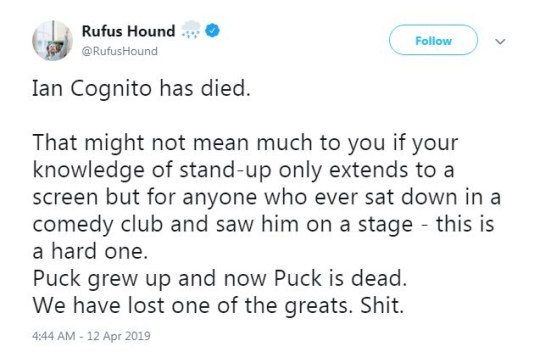 Ian Cognito dead: Comedian dies on stage after 'heart attack