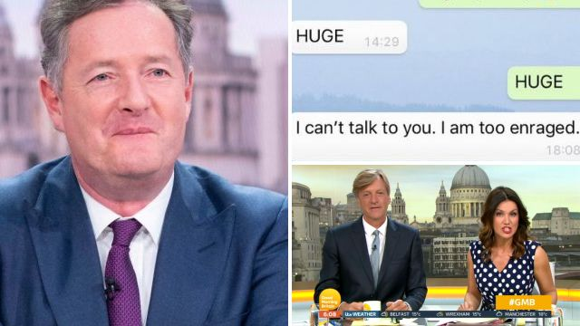Piers Morgan gets royally burned by Susanna Reid as she leaks WhatsApp chat