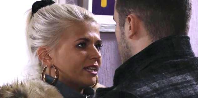 Ben Mitchell (Max Bowden) reveals Lola Pearce's (Danielle Harold) shocking secret