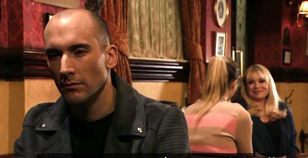 Midge (Tom Colley) has murder in mind for Louise Mitchell (Tilly Keeper)