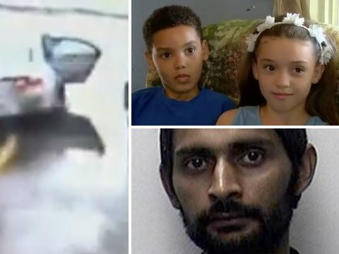 Hero boy, 8, saves himself and sister, 10, from abductor who stole car with them inside