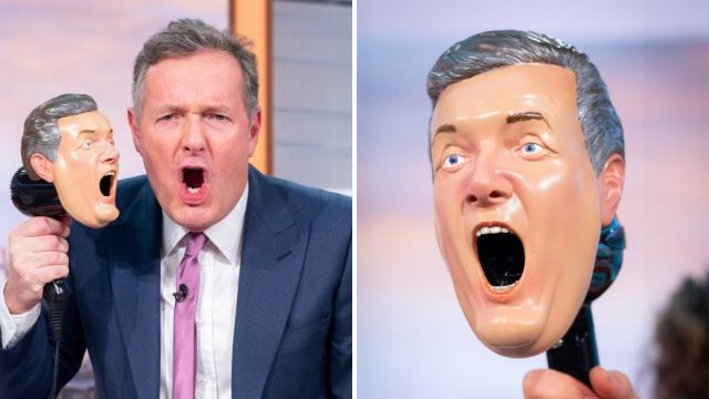Piers Morgan trolls himself as he launches gimmick hairdryer – because he's full of hot air