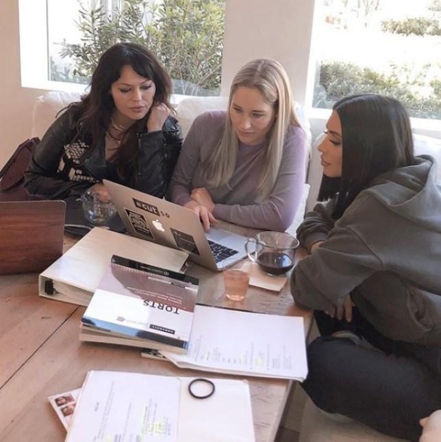 Kim Kardashian studying law