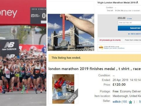 London Marathon medals sold on eBay hours after race finishes