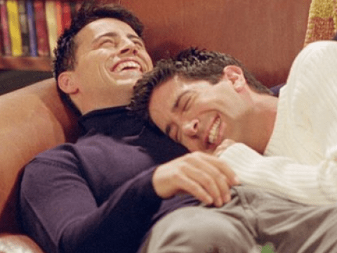 Friends' David Schwimmer reaches out to Matt LeBlanc for a Ross and Joey nap and we really hope this happened
