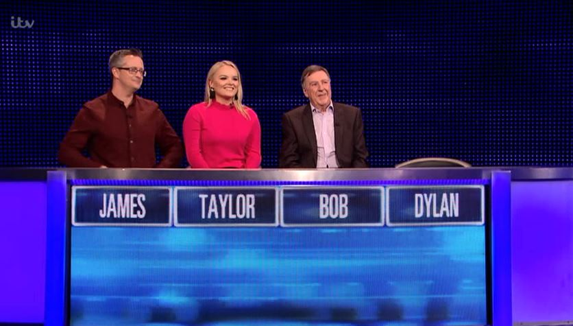 The Chase viewers in bits as contestants' names form two music legends