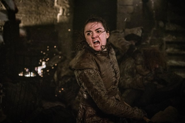Maisie Williams as Arya Stark in Game of Thrones