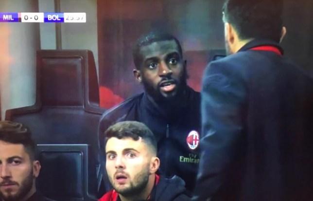 Tiemoue Bakayoko clashed with AC Milan boss Gennaro Gattuso