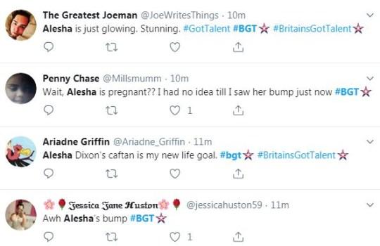 Alesha tweets