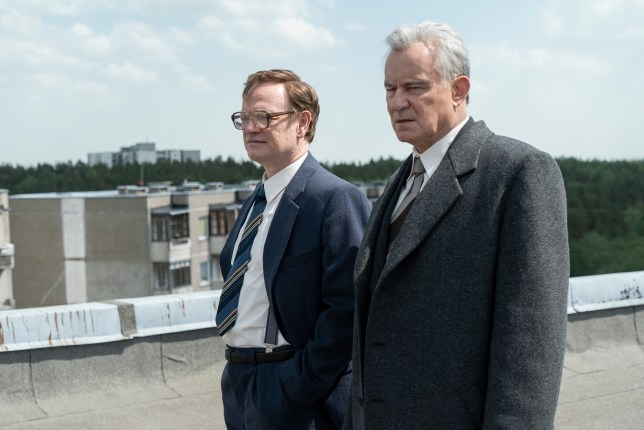 Jared Harris and Stellan Skarsgard in the HBO drama Chernobyl