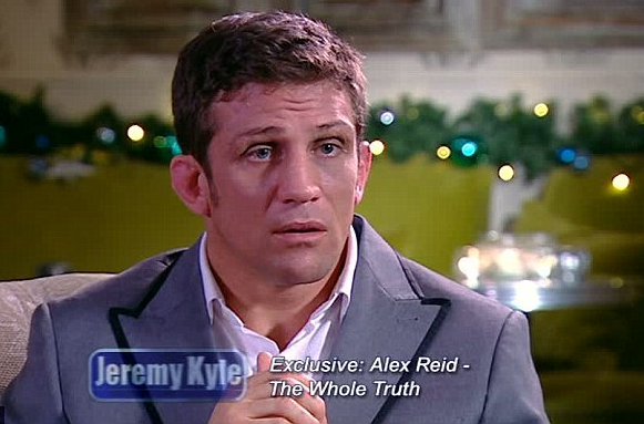 Alex Reid appeared on The Jeremy Kyle Show in 2012