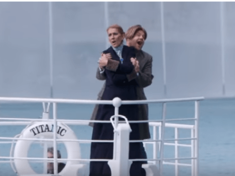 Celine Dion and James Corden recreate iconic Titanic moment and our hearts will go on and on