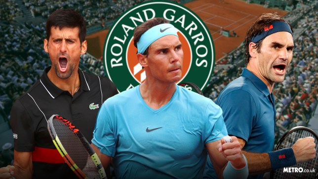 Novak Djokovic, Rafael Nadal and Roger Federer are chasing the French Open title