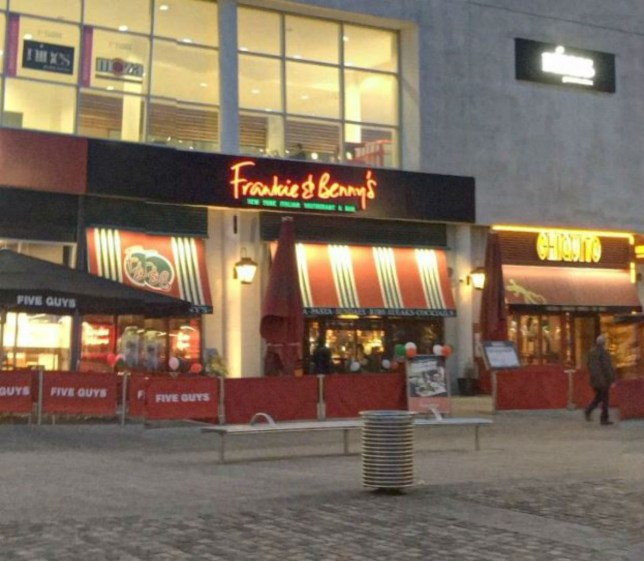 A man was jailed for failing to pay for a Frankie and Benny's