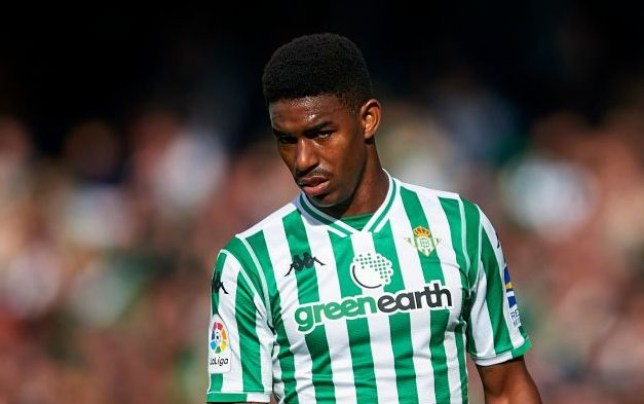 Real Betis left-back Junior Firpo is on Manchester United's radar