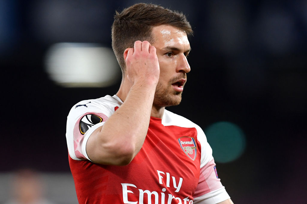 Unai Emery says Aaron Ramsey's 'heart is red' as his Arsenal career is ended by injury