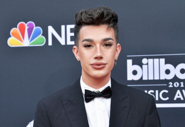 James Charles in a tux at the Billboard awards 2019