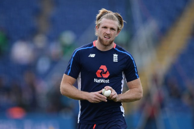 David Willey was left out of England's final World Cup squad