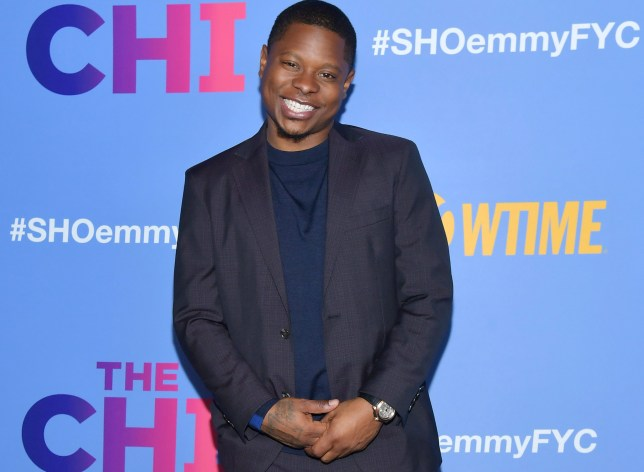 Jason Mitchell at The Chi red carpet