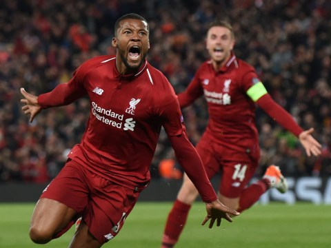 Liverpool hero Georginio Wijnaldum reveals why he was angry with Jurgen Klopp ahead of epic Champions League comeback