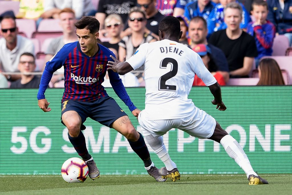 Philippe Coutinho comforted by Jordi Alba amid relentless booing from Barcelona fans