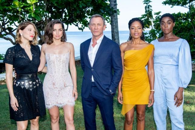 d3fb8dc01a Daniel Craig, Léa Seydoux, Naomie Harris and Lashana Lynch attend the Bond  25 Film
