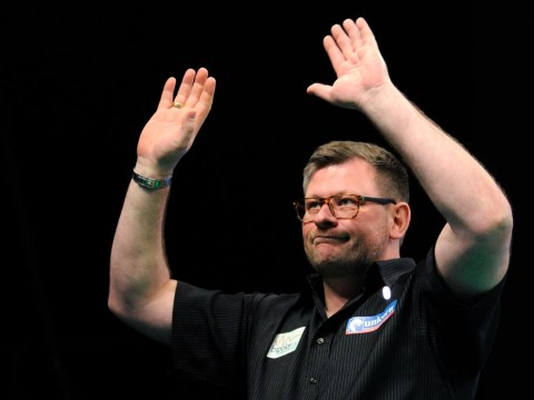 Bemused and disappointed James Wade reacts to Gerwyn Price Premier League Darts spat
