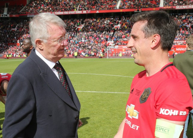 Sir Alex Ferguson takes cheeky dig at Gary Neville after Man Utd legends game