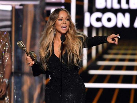 Mariah Carey thanks fans for 'lifting her out of the depths of hell' as she accepts BBMAs Icon award