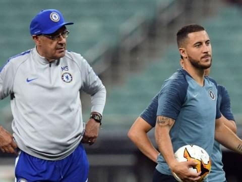 Maurizio Sarri says Chelsea star Eden Hazard is a 'problem' in training