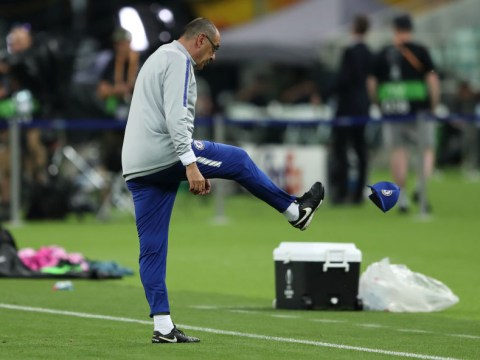 Maurizio Sarri storms out of Chelsea training as David Luiz and Gonzalo Higuain clash on eve of Europa League final