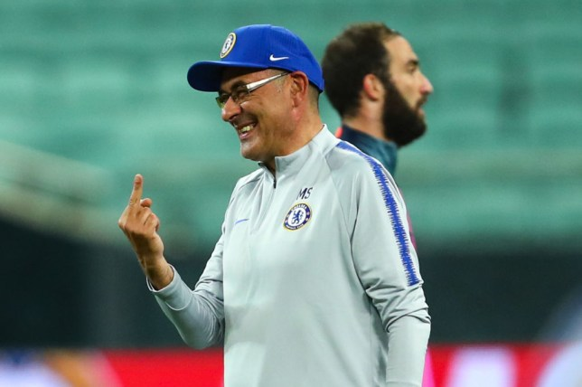 Maurizio Sarri stormed off the pitch during Chelsea's final training session ahead of the Europa League final