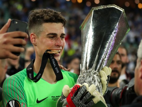 Gary Neville 'can't accept a keeper like Kepa' despite his Chelsea side thrashing Arsenal in Europa League final