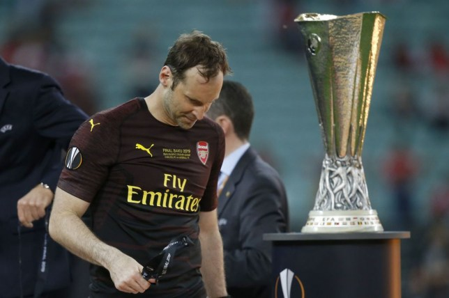 Petr Cech's final game as a professional ended in defeat as Arsenal were beaten 4-1 by Chelsea in the Europa League final