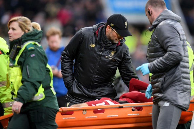 Jurgen Klopp consoled Liverpool ace Mohamed Salah after his worrying head injury