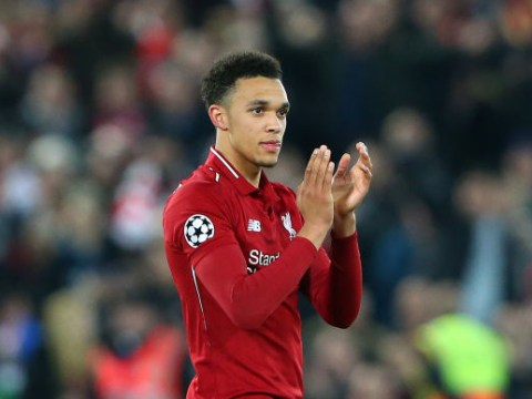 Barcelona fans applaud Trent Alexander-Arnold at full time after Liverpool's stunning comeback at Anfield