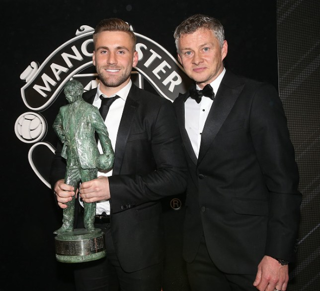 Luke Shaw was crowned Manchester United's Player of the Season last week