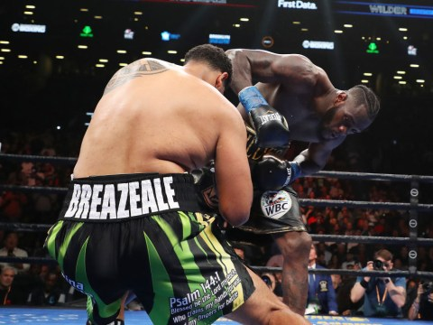 Deontay Wilder crushes Dominic Breazeale with one-punch knockout in the first round