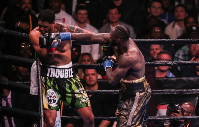 Dominic Breazeale was knocked out in the first round by Deontay Wilder