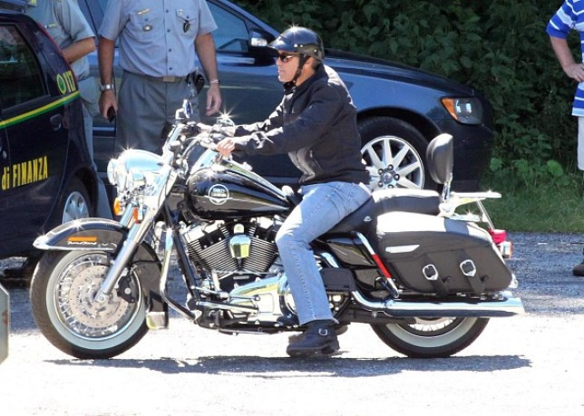 George Clooney 'used all nine of his lives' in motorcycle