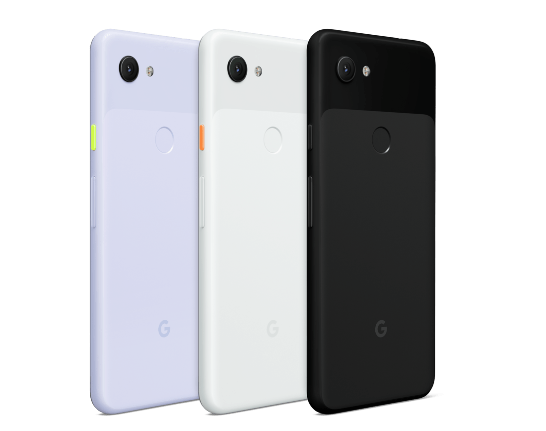 The Google Pixel 3a comes in a choice of possibly Just Black, Purple-ish and Clearly White (Google)