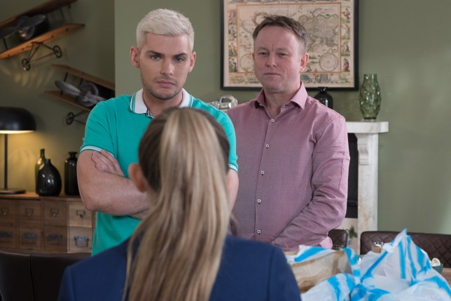 Leah confronts Ste in Hollyoaks
