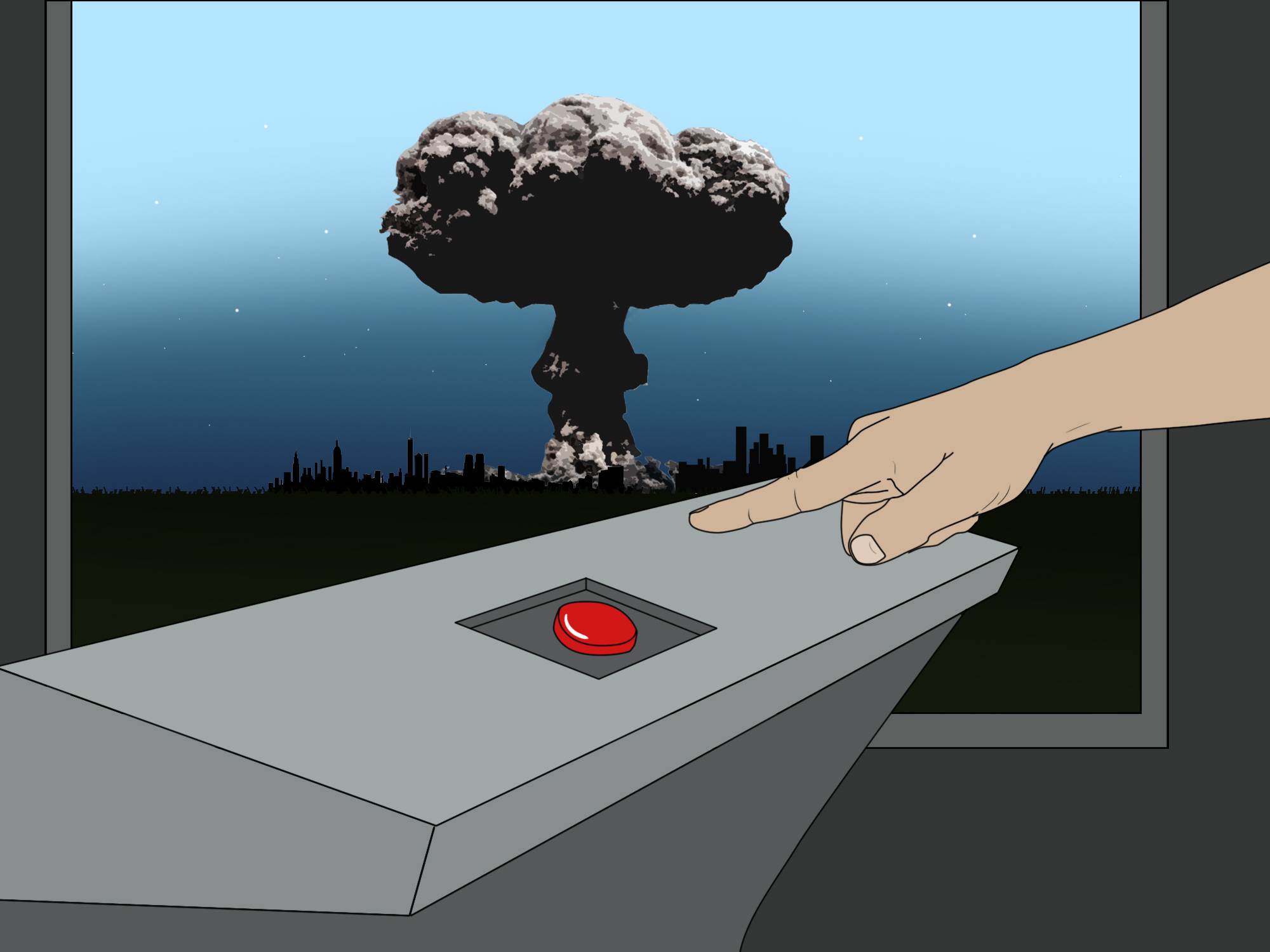 We will all end up killing each other and one nuclear blast could do it
