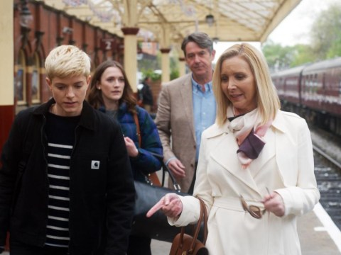 Friends star Lisa Kudrow pictured filming her new show Mae and George in Blackpool and we can't wait to see it