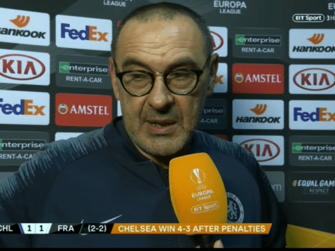 Maurizio Sarri annoyed with Chelsea board over United States friendly before Europa League final against Arsenal
