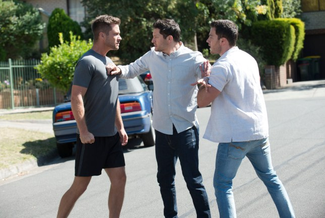 Mark loses it over Shaun and Elly in Neighbours