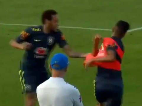 Neymar lashes out after getting humiliated by Weverton during Brazil training session