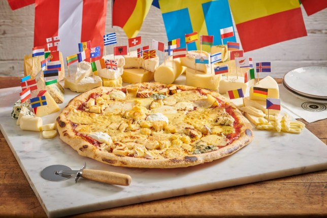The 41-cheese pizza